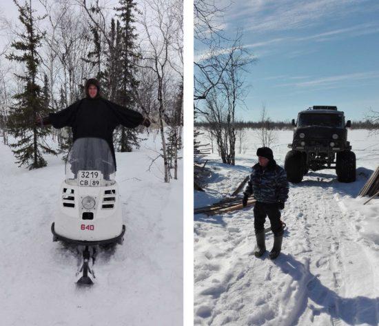 """Allen Familien haben eine Schneemobil - """"Die Bevölkerung fährt auch mit Autos des Films """"Mad Max"""" würdig sind."""" erzählt Alexey Zich. - Foto: Alexey Zich"""