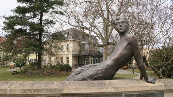 Das Erich-Kästner-Museum am Albertplatz.