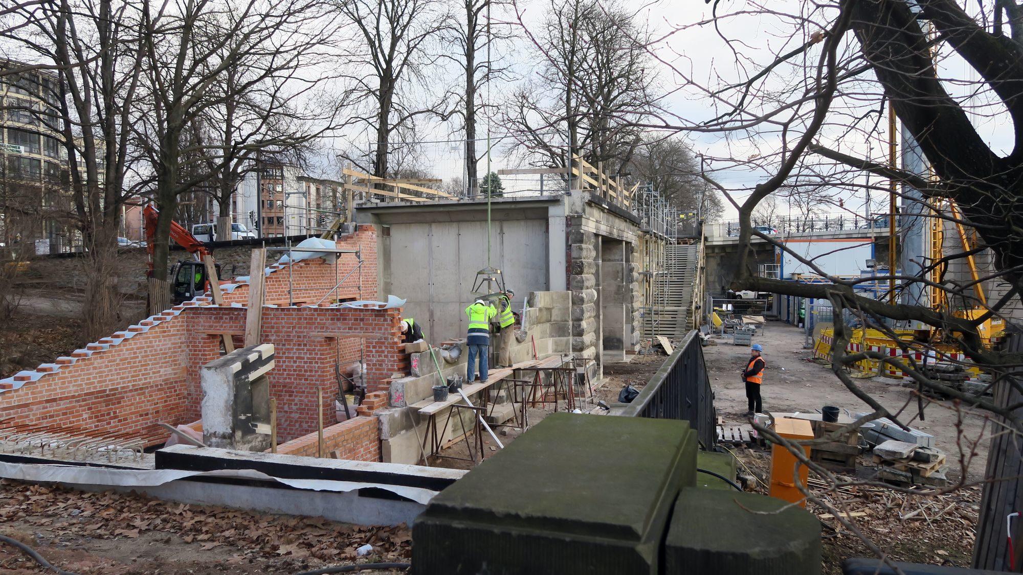 Baustelle an der Albertbrücke