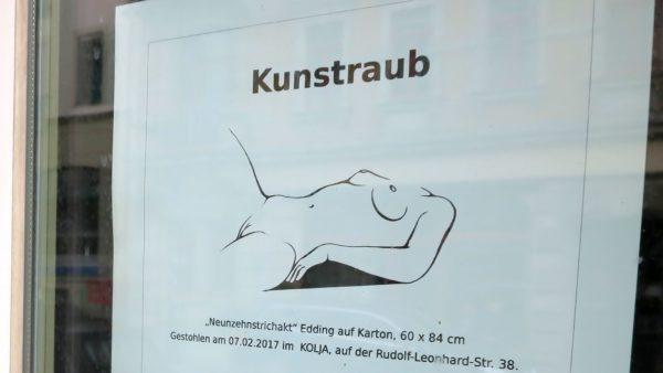 Kunstraub auf der Rudolf-Leonhard-Straße