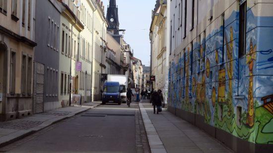 Blick von der Alaunstraße