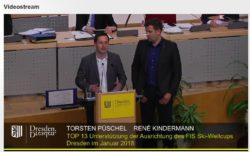 Torsten Püschel und Rene Kindermann stellten ihr Projekt heute im Stadtrat vor. Screenshot Livestream dresden.de