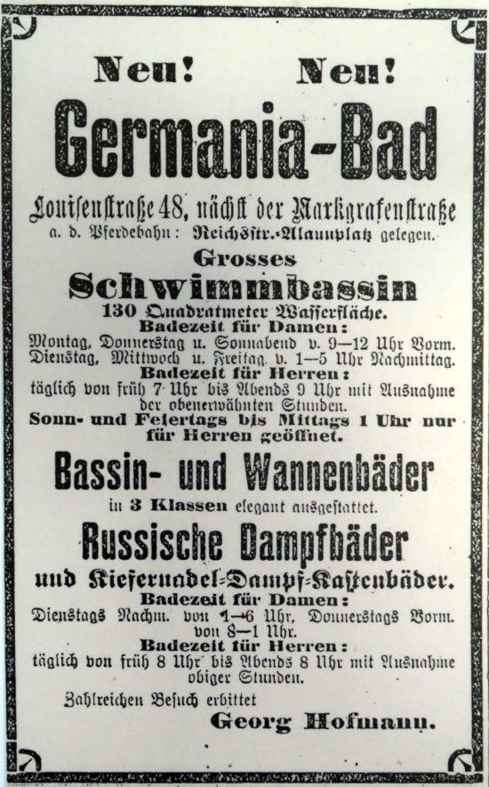 Das Nordbad wurde 1984 als Germania-Bad eröffnet.