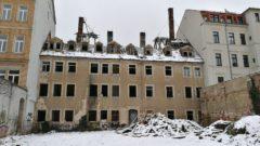 Die Hungerstil-Ruine im Januar