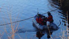 Die Polizei hatte mit Tauchern, Schlauchbooten, Sonar und Hunden vergeblich das Hafenbecken abgesucht. Foto: W. Schenk