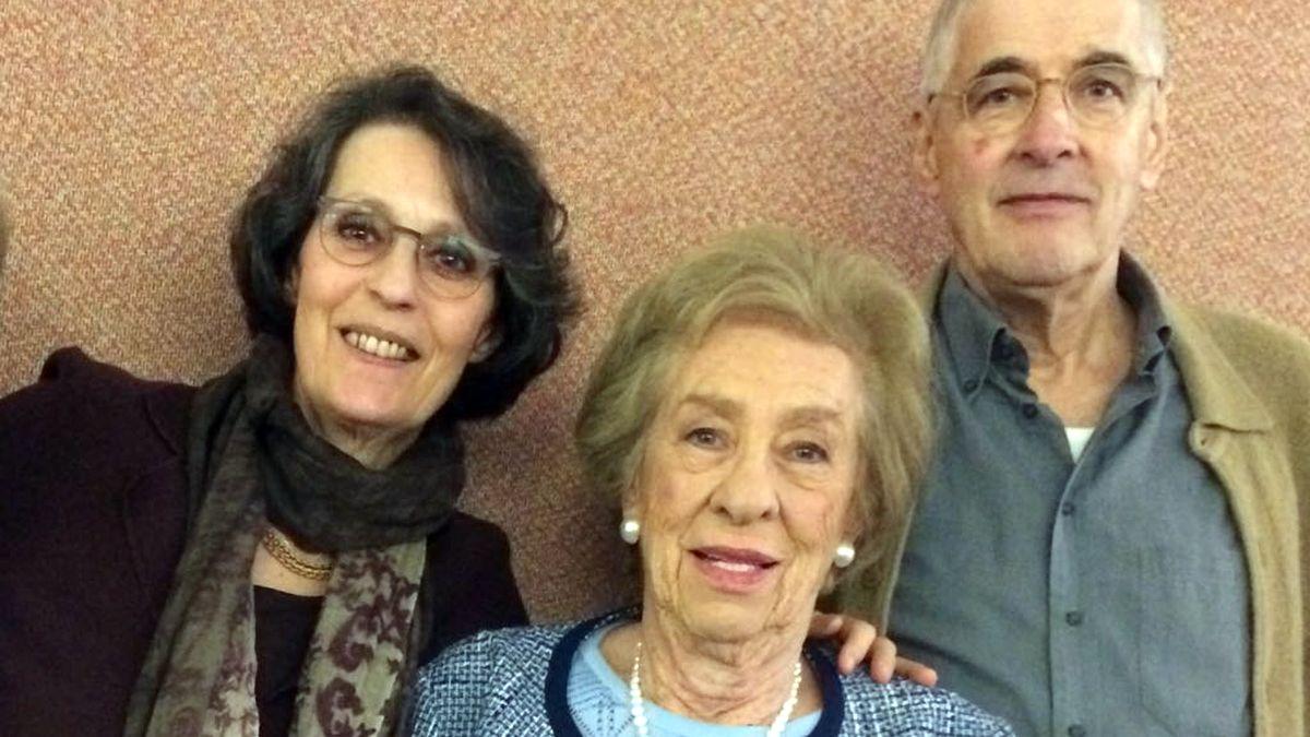 Miriam van Santen, Eva Schloss und Jan Rosenbaum