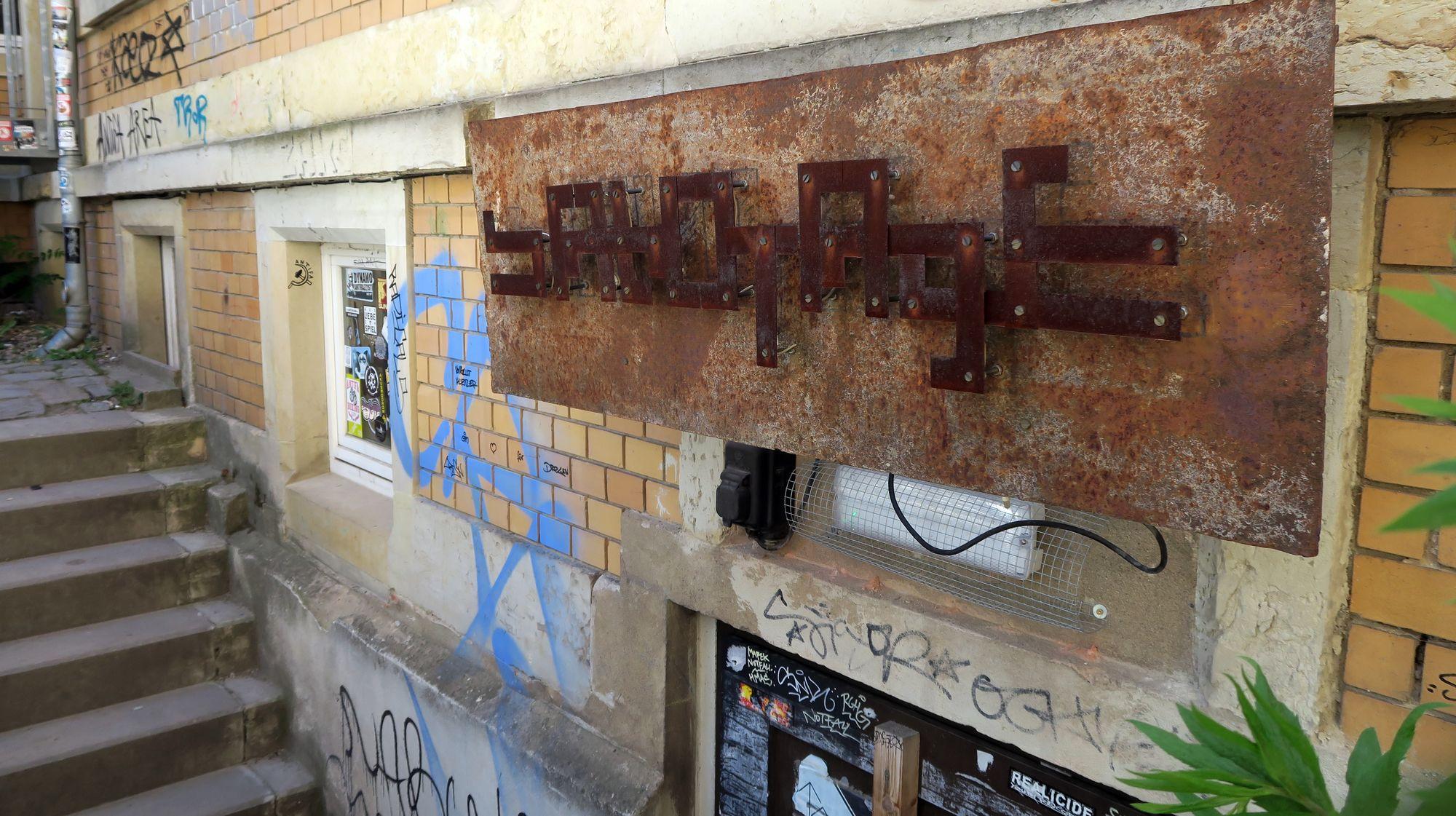 """Club """"Sabotage"""" im Hinterhof der Bautzner Straße 75"""