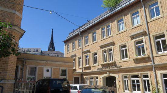 Hinterhof an der Bautzner Straße