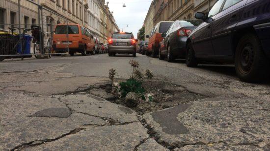 Bepflanzte Förstereistraße - danke an Tobias für das Foto
