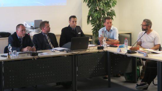 Ortsamtsleiter André Bart, Baubürgermeister Raoul Schmidt-Lamontain, Revierleiter Matthias Imhof, Ordnungsamtschef Ralf Lübs, BRN-Koordinator Magnus Hecht