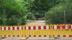 Die Wege zum Staudengarten sind noch gesperrt.