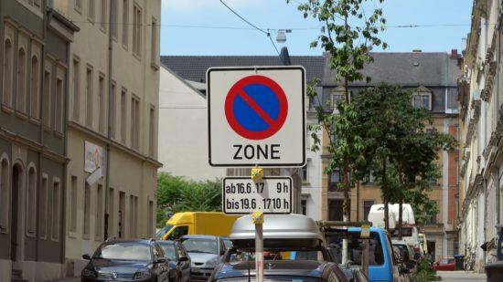 Parkverbot ab Freitag, 9 Uhr