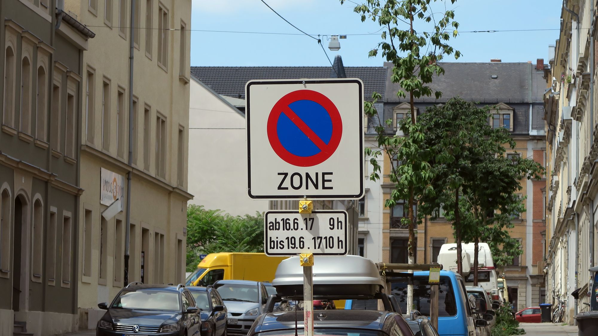 eine zone mit eingeschränktem haltverbot