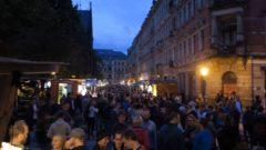 Martin-Luther-Platz kurz vor 22 Uhr