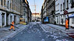 Kamenzer Straße am Sonnabend um 5 Uhr.