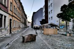 Sebnitzer Straße am Sonnabend um 5 Uhr.