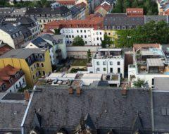 Turmblick auf die ehemalige Sauerkrautfabrik