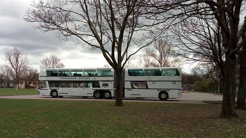 Kein Treber-Bus mehr auf dem Alaunplatz.