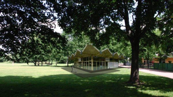 So könnte das Pinguin-Café auf dem Alaunplatz aussehen.