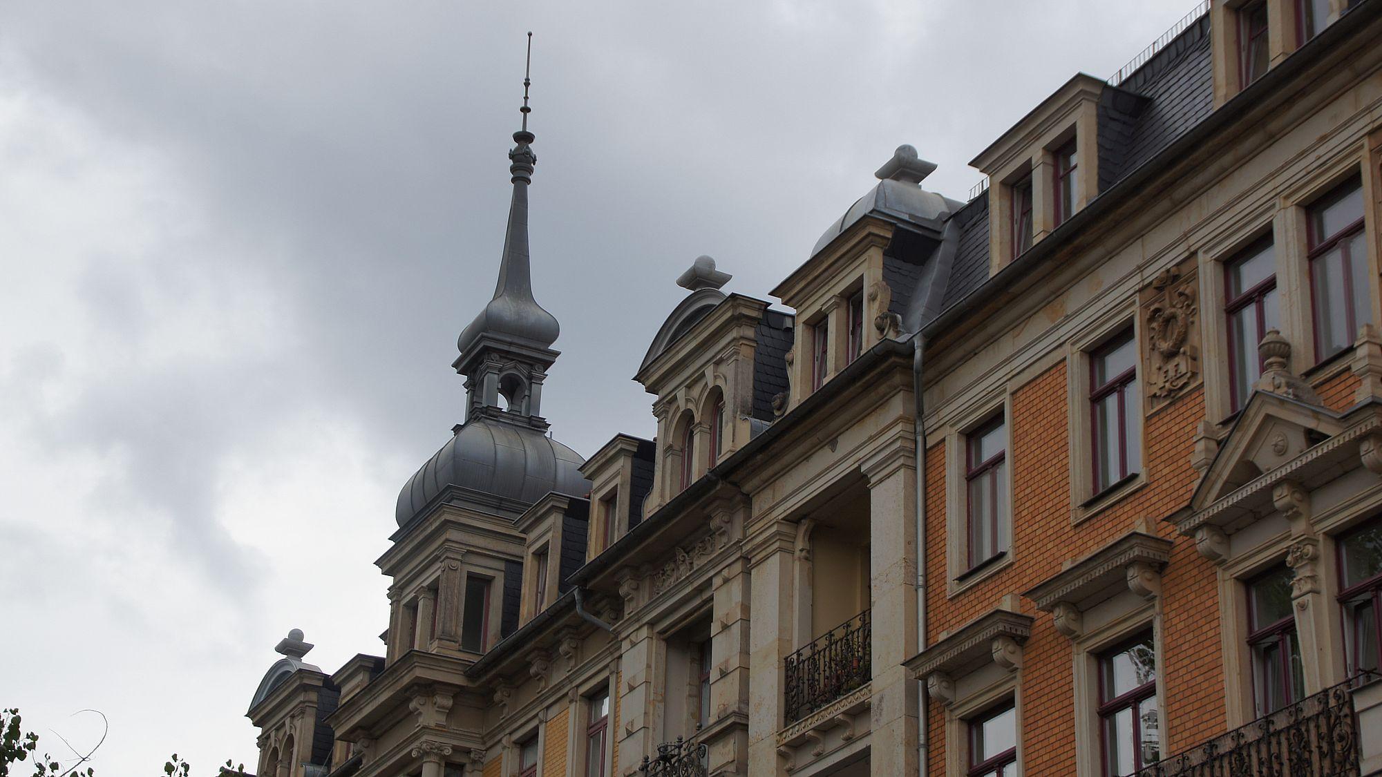 Gründerzeithäuser auf der Tieckstraße