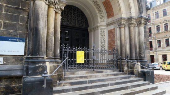 Am 27. Juli 2017 war auf die Martin-Luther-Kirche ein Brandanschlag verübt worden.