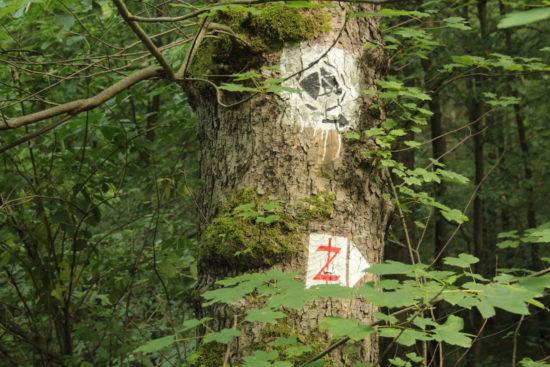 """Das durchgestrichene """"Z"""" markiert den spätmittelalterlichen Diebsteig."""