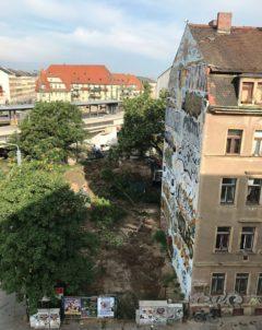 Bauarbeiten am Bischofsplatz haben begonnen.
