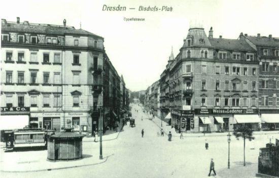 Blick in die Oppelvorstadt um die Jahrhundertwende - heute ist die Gegend als Hecht-Viertel bekannt.