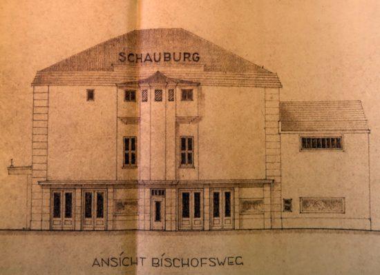Schauburg-Umbau-Pläne aus den 1950er Jahren