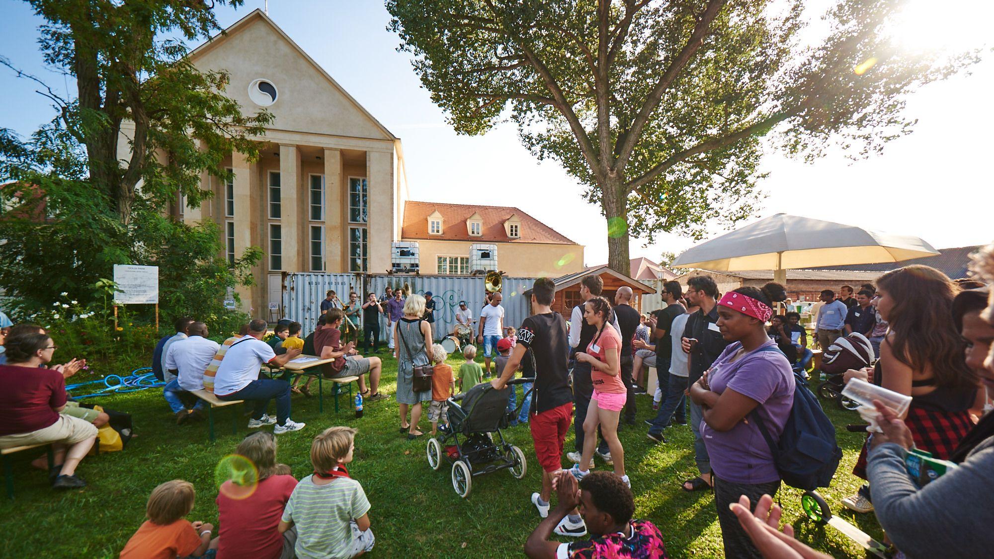 Regelmäßig finden im interkulturellen Garten Feste statt. Die Resonanz ist sehr gut. (Foto: Stephan Floss)