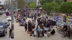 Trödelmarkt auf dem Scheunevorplatz - Foto: Archiv Mai 2017
