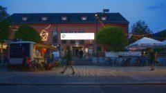 Scheunevorplatz bei Nacht - Foto: Archiv August 2017