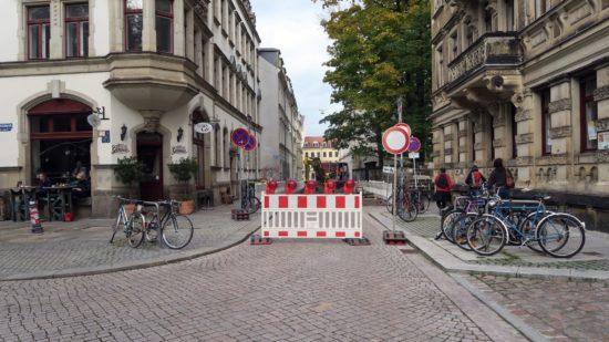 Ab heute gesperrt: nördliche Pulsnitzer Straße