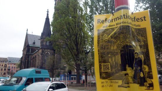 Reformationsfest auf dem Martin-Luther-Platz