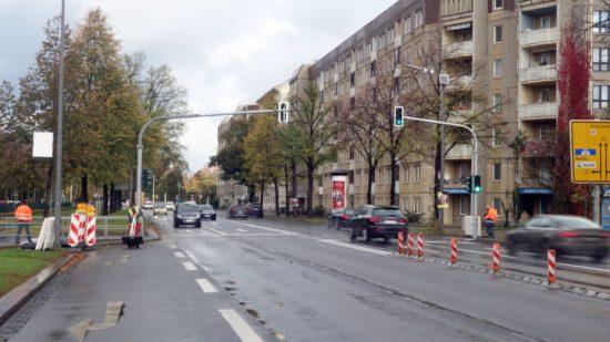 Seit heute ist die neue Ampel an der Albertstraße in Betrieb.