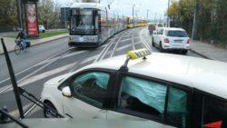 Unfall auf der Marienbrücke - Foto: Roland Halkasch