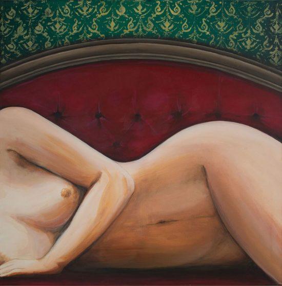 """Album-Cover zum Beatalbum """"Ladies"""". In Öl geschaffen von der Künstlerin Noir."""
