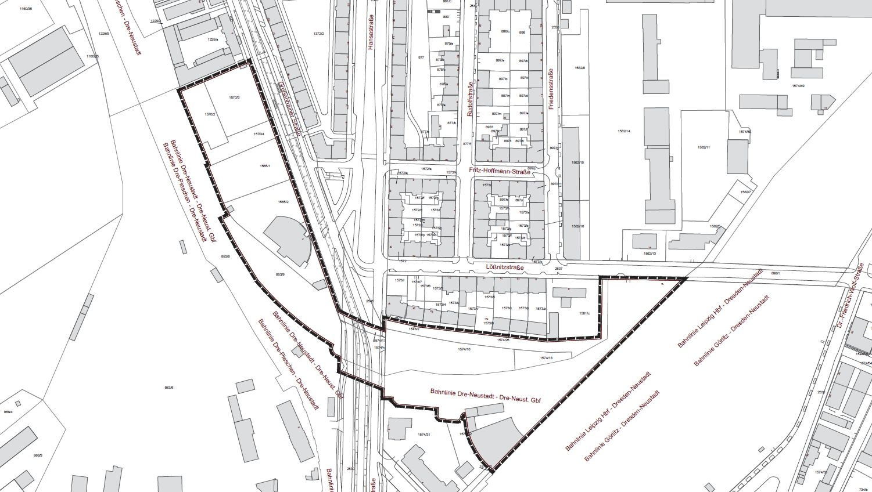 Das Gebiet rund um die Hansa- und Großenhainer Straße soll geplant werden.