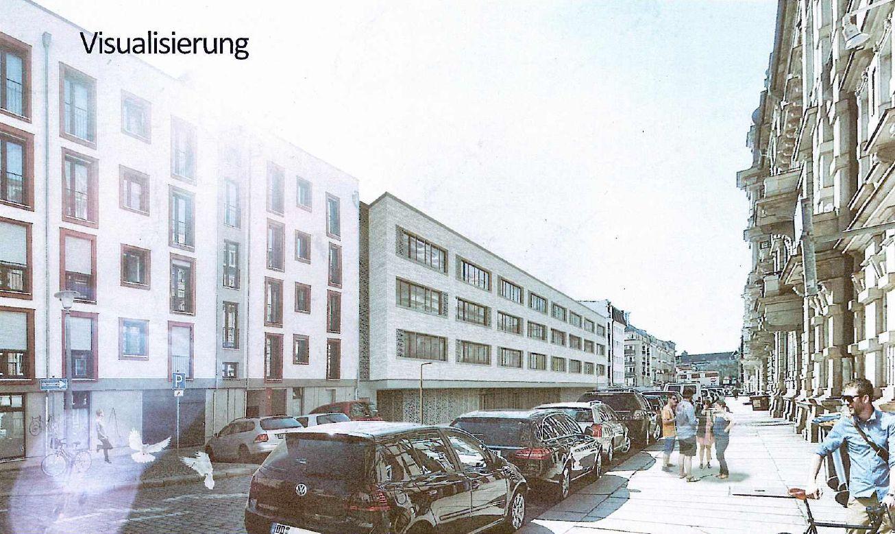 Visualisierung der geplanten Neubauten an der Berufsschule an der Tieckstraße
