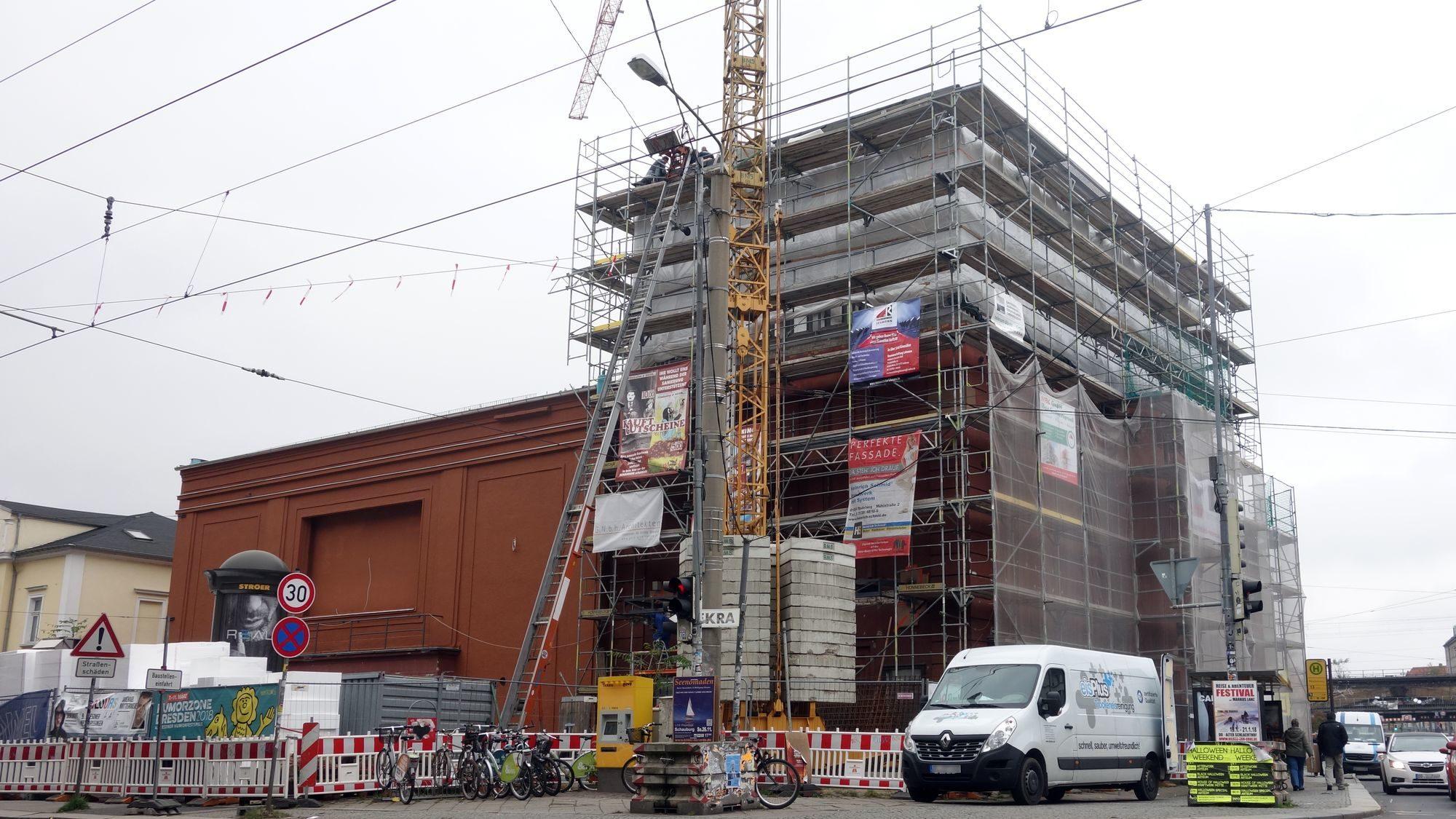 Schauburg: Lesung in der Baustelle