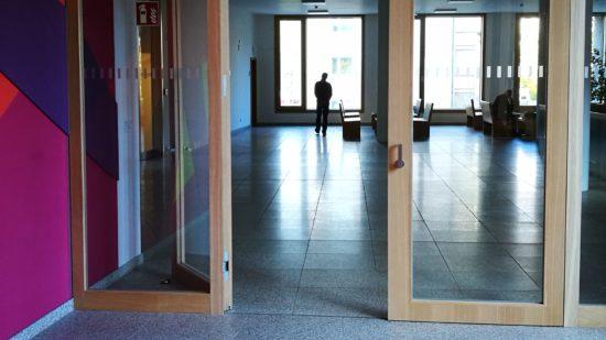 Der Angeklagte im Dresdner Amtsgericht.