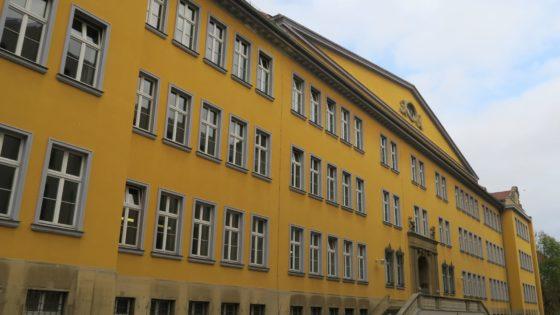 Haupteingang der Berufsschule an der Melanchthonstraße