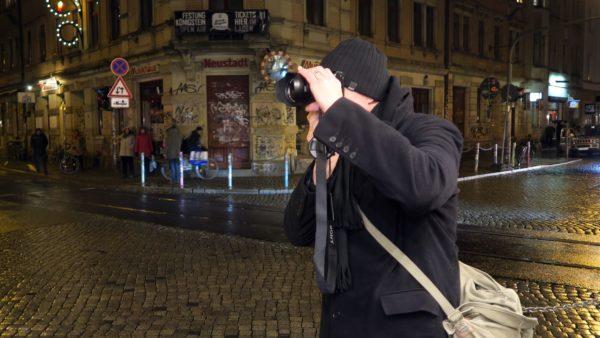 Fotograf Peter Zuber an seiner Lieblingsecke.