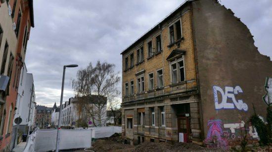 Kiefernstrasse 19b - das Haus wird abgerissen
