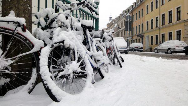 Winter-Bikes an der Prießnitzstraße im Herbst 2010