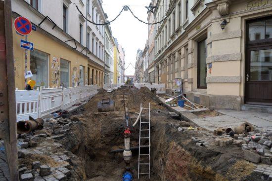 Tiefbauarbeiten an der Martin-Luther-Straße