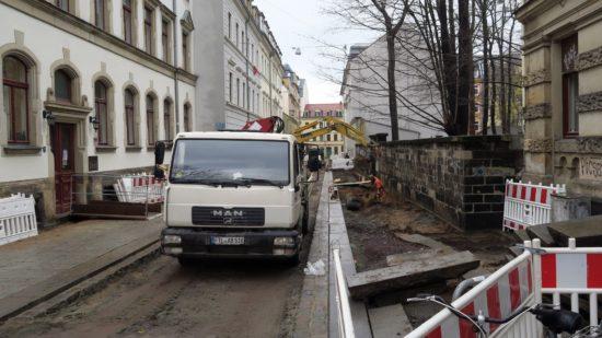 Straßenbau an der Pulsnitzer Straße