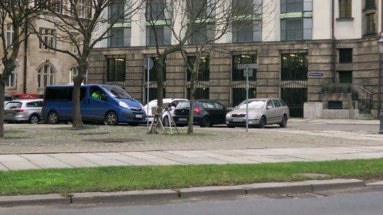 Verkehrsüberwachung auf der Albertstraße