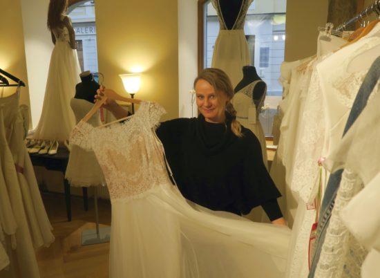 Calesco Couture: Silvia sagt Tschüss zum Obergraben - demnächst auf dem Weißen Hirsch.