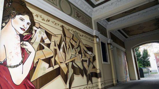 Auch 2017 entstanden: großen Bandits-Graffito am Bischofsweg